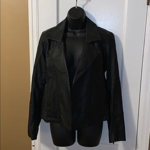 Calvin Klein Faux Leather Blazer - size medium